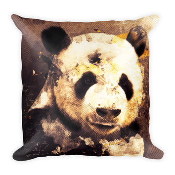 Panda Decorative Throw Pillow 18x18