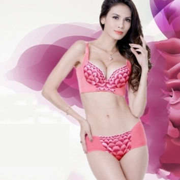 Massage female embroidery thick cup gather adjustable underwear bra breast bra one piece bra = 1753573124