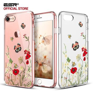 Case for iPhone 8/8 Plus,ESR Hard PC Back Shell Skin Cover with Printed Pattern+Soft TPU Bumper Edge for iPhone8/7/7 Plus/8Plus
