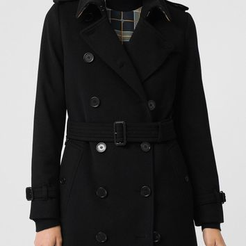 Cashmere Trench Coat in Black - Women   Burberry United States