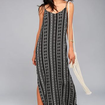 Olive & Oak Emory Black Print Maxi Dress
