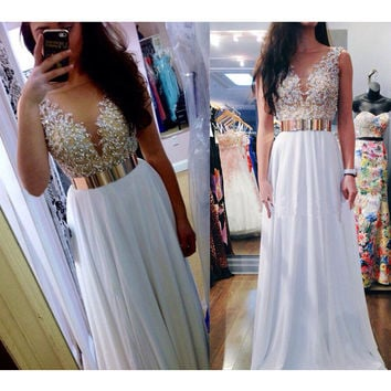 Fashion Dress For Prom With Beaded Top pst0574