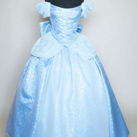 Cinderella New 2012 Park Style Swirl Gown with Blue by Bbeauty79