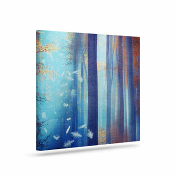 "Viviana Gonzalez ""Dreams In Blue"" Red Trees Canvas Art"