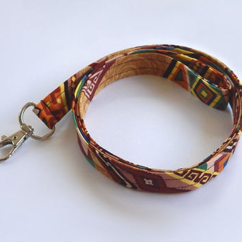 Tribal Lanyard / Tribal Print / Southwest Keychain / Southwestern / Key Lanyard / ID Badge Holder / Southwest Tribal / Southwest Tribal