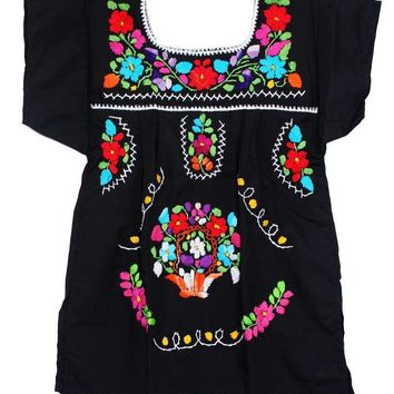 Mexican Dress for Girls Black