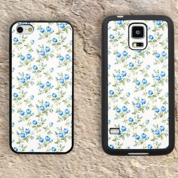 Vintage blue rose iPhone Case-Floral Patterns iPhone 5/5S Case,iPhone 4/4S Case,iPhone 5c Cases,Iphone 6 case,iPhone 6 plus cases,Samsung Galaxy S3/S4/S5-186