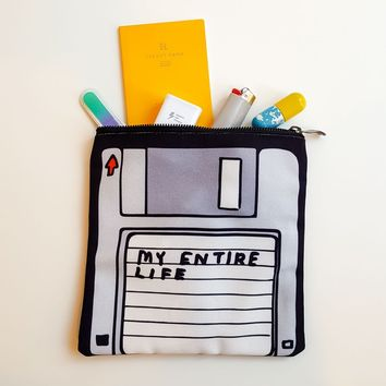 David Shrigley Entire Life Zip Case - Omoi Zakka Shop