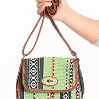 Bright Future Aztec Crossbody Purse