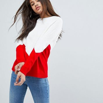 ASOS TALL Chunky Jumper With Chevron at asos.com