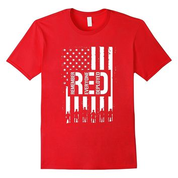 R.E.D. Remember Wear Everyone Red Deployed T-Shirt