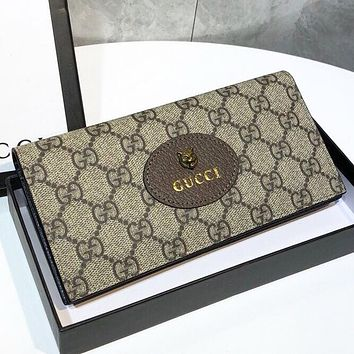 GUCCI Fashion New More Letter Leather Wallet Purse Handbag