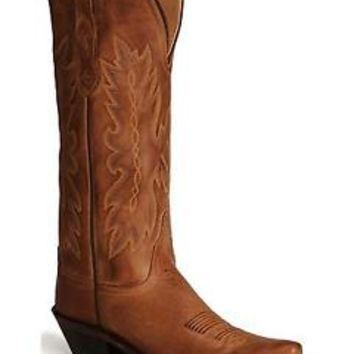 Old West Women's Distressed Leather Cowgirl Boot Snip Toe - TS1541