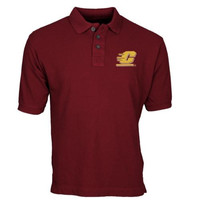 Central Michigan Chippewas Team Mark Polo - Maroon