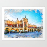 Cracow art 15 #cracow #krakow #city Art Print by jbjart