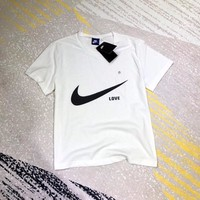 """Nike"" Unisex Loose Casual Simple Logo Print Couple Short Sleeve Round Neck T-shirt Top Tee"