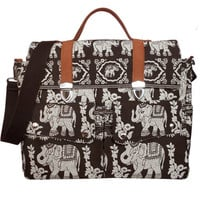 Brown elephant Messenger Bags/Handbags/Bags&Purses/School Bags/Canvas Bags/Backpacks/Shoulder Bags/Travel bags/Diaper Bag/Crossbody Bags