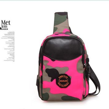 Leopard Single Shoulde Backpack Chest Bag 2017 new Cross Body phone Canvas waist bags pack Suitable for man colorful bagpack