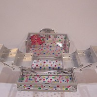 Caboodles Train Case Super Model Clear Cosmetic Make up