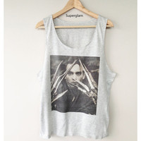 Johnny Depp Edward Scissorhands Actor Film Movies Singlet T-Shirt Vest Unisex Man Women