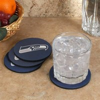 Seattle Seahawks 4-Pack Round Neoprene Coaster Set