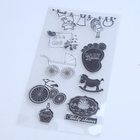 1PCS LOT Transparent Stamp Baby Style For DIY Scrapbooking