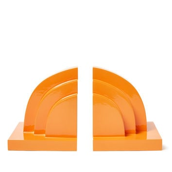 Sparrow Lake Deco Bookends (Set of 2) - Orange