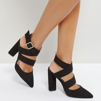 Qupid Strappy Point High Heels at asos.com