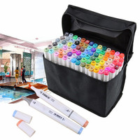 30/40/60/80 Colors Set Artist Dual Head Sketch Copic Markers Set For School Drawing Sketch Twin Marker Pen Design -- Broad and Fine Points