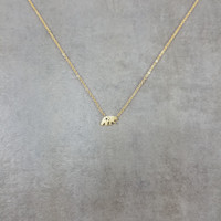 Bear Gold Necklace