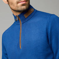 SWEATER WITH LEATHER DETAILS - New - MEN - United States of America / Estados Unidos de América