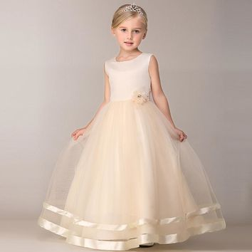 kid Elgant princess Dress Littel Girl Christening Wedding Party Flower Girl Clothes Prom Dresses Baby Girls Children Clothing