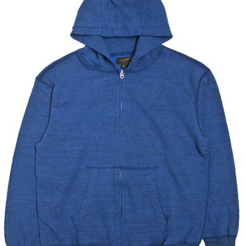 National Athletic Goods 40s Zip Parka 11oz. Mock Twist Jersey Blue
