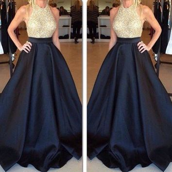 Summer Runaway Maxi Skirt Women Vintage 2017 Autumn Ball Gown Solid Black Blue Party A-line Pleated Long Skirt Plus Size Pockets