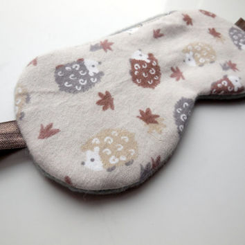 Hedgehogs Sleep Mask for Her, Night Eyemask, Women Teen Girl Child Kid, Pre-teen Gift, Fleece Cotton Satin, Toddler, Small Cute Animals