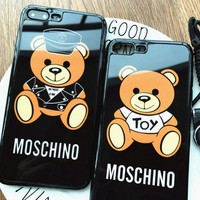 MOSCHINO Mirror Cover iphone 7 full package soft shell Iphone 6s shell 6Plus (Mobile phone hang rope)