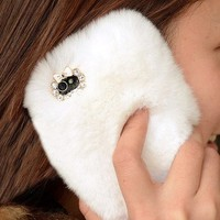 Cony Hair with Lace Cover for iPhone 5