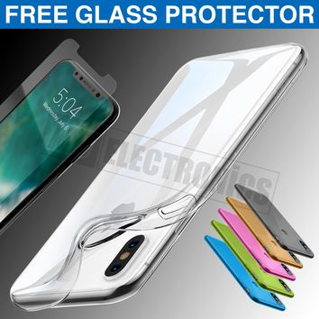 Ultra Thin Slim TPU Gel Skin Cover Case Pouch for Apple iPhone X 8 7 6s 6 Plus 5