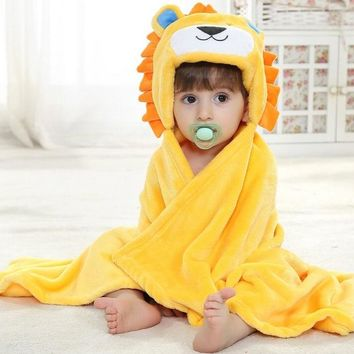 Baby Blanket - Free Shipping - Soft Hooded Cloak / Wrap - Lion