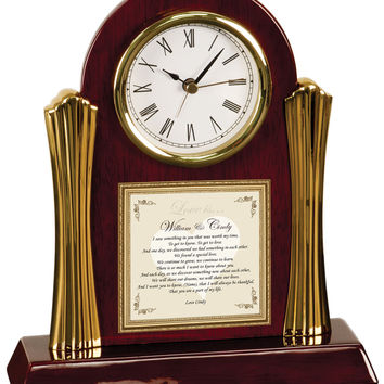 Romantic Gift Poetry Clock
