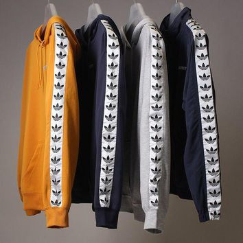 Adidas Tnt Tape Embroidery Logo Top Sweater Pullover Hoodie