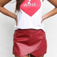 The Life Burgundy Wax Skort