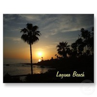 Laguna Beach sunset postcard from Zazzle.com