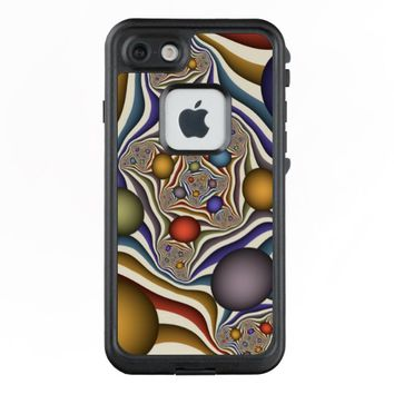 Flying Up, Colorful, Modern, Abstract Fractal Art LifeProof® FRĒ® iPhone 7 Case