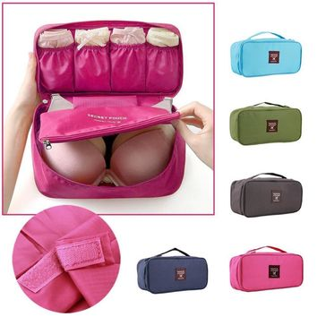 Travel Portable Nylon Multifunctional Women's Underwear/Bra Lingerie Organizer Storage Bag