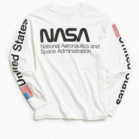 NASA Worm Logo Long Sleeve Tee | Urban Outfitters