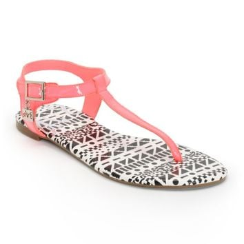 DV8 Asher Electric Coral Sandals