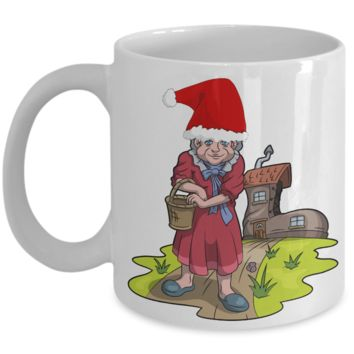 old woman who lived in a shoe fairy tale mug christmas 2016