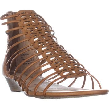AR35 Averi Gladiator Wedge Sandals, Cognac, 9.5 US