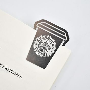 Unique Exclusive Artist Silver Metal Starbucks Coffee Cup Bookmark
